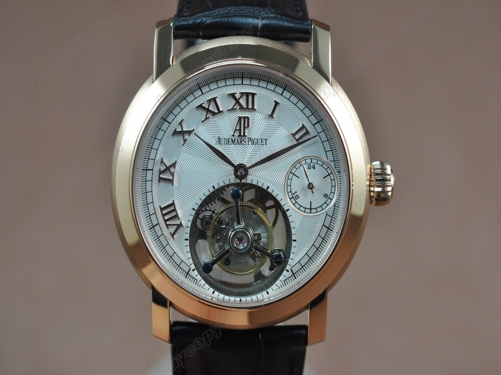 愛彼錶【男性用】 Jules Audemars Classics Tourbillon RG/LE White Flying Tourbillon手上鏈搭載