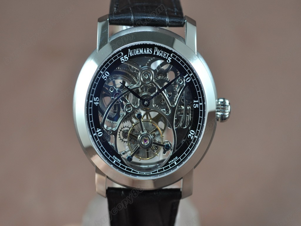 愛彼錶【男性用】 Jules Audemars Classics SS/LE Black Flying Tourbillon手上鏈搭載