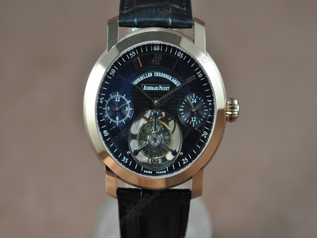 愛彼錶【男性用】 Jules Audemars Classics RG/LE Black Flying Tourbillon 手上鏈搭載