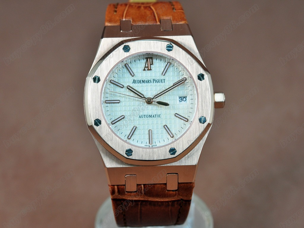 愛彼錶【男性用】 Royal Oak Jumbo 39mm RG/LE White Swiss Eta 2824-2自動機芯搭載