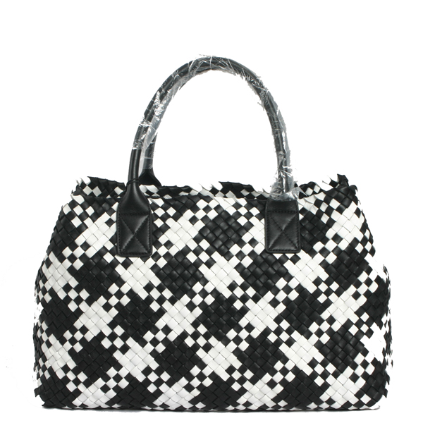Bottega Veneta-5211-nero-white-手提包