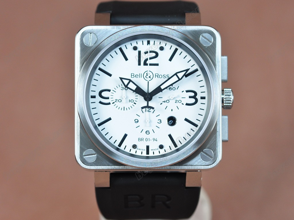 Bell & Ross【男性用】BR01-94 SS/RU White A-7750オートマチック搭載