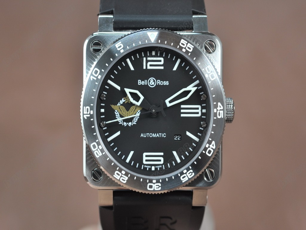 Bell & Ross【男性用】 BR03 SS French Air Force  Black Dial Asia Eta 2824-2 自動機芯搭載