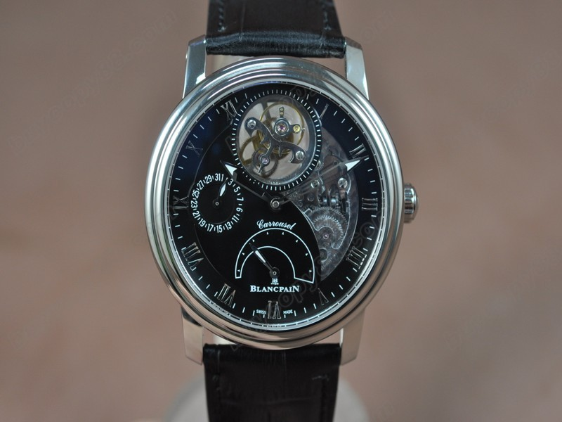 寶鉑錶【男性用】 Carrousel Tourbillon Power Reserve SS/LE Black dial手上鏈搭載