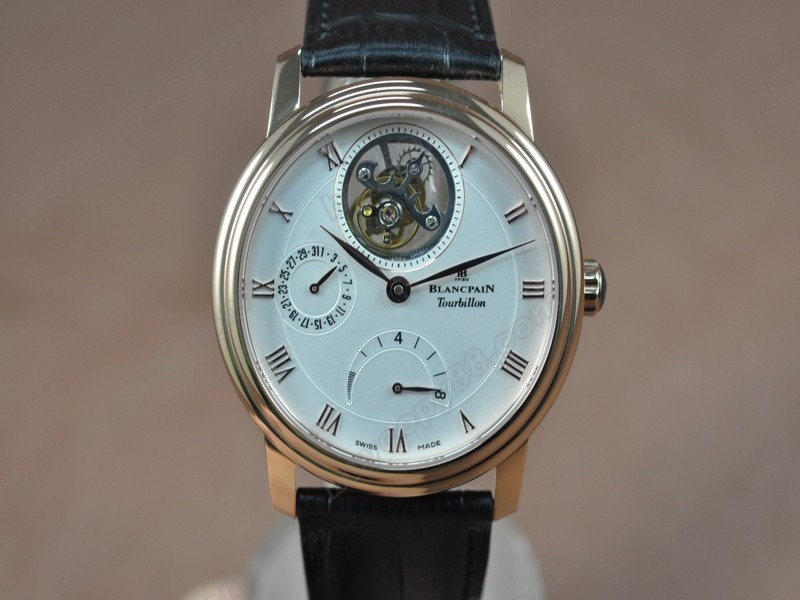寶鉑錶【男性用】Carrousel Tourbillon Power Reserve RG/LE White 手上鏈搭載