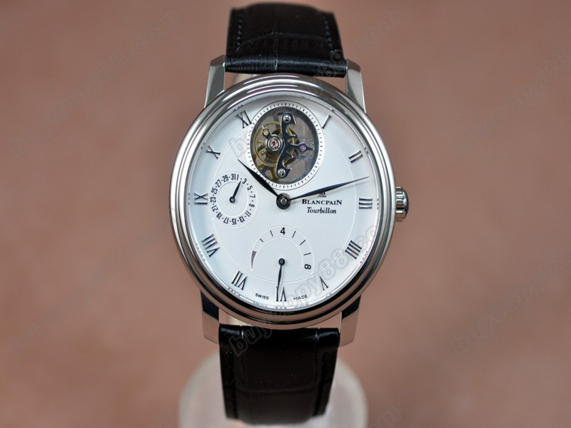 寶鉑錶【男性用】 Carrousel Tourbillon Power Reserve SS/LE White 手上鏈搭載