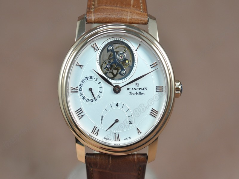 寶鉑錶【男性用】 Carrousel Tourbillon Power Reserve RG/LE White dial 手上鏈搭載