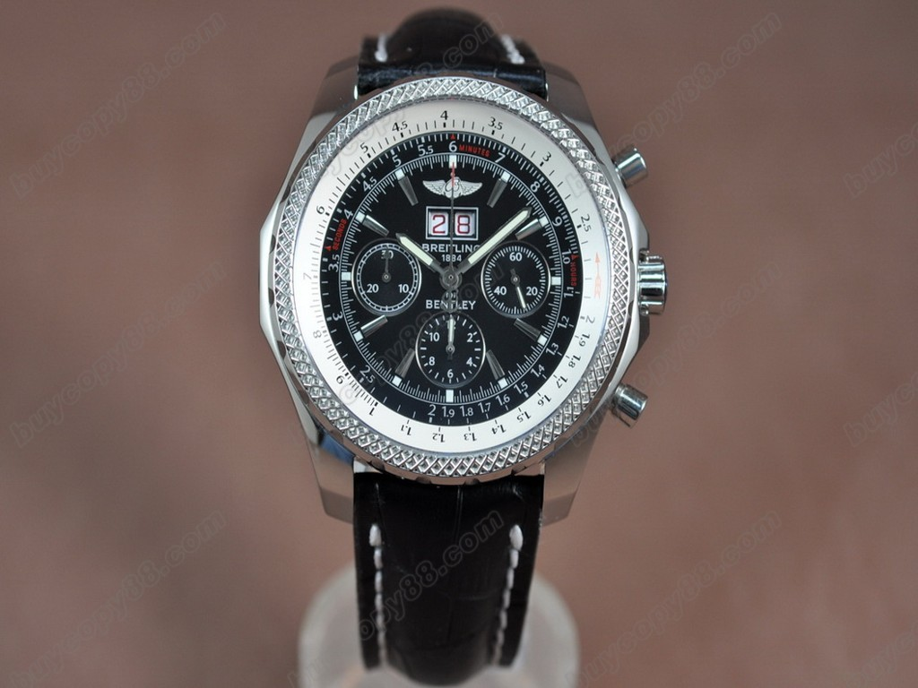 百年靈【男性用】 Bentley 6.75 Big Date Chrono LE Black Asia7750自動機芯搭載