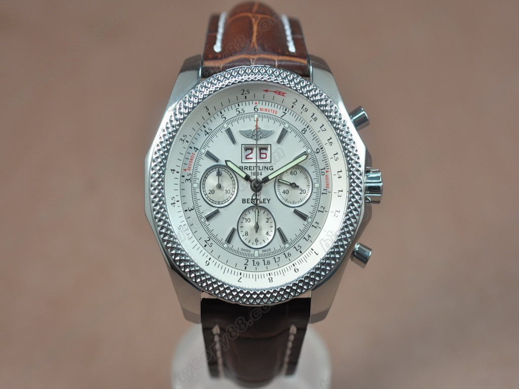 百年靈【男性用】Bentley Big Date Chrono SS/LE WhiteAsia7750自動機芯搭載
