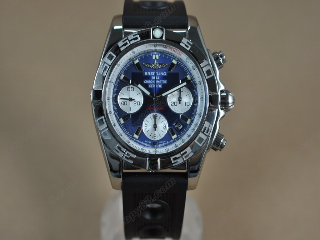 百年靈【男性用】Chronomat B01 SS/RU Blue Sticks Asia7750自動機芯搭載