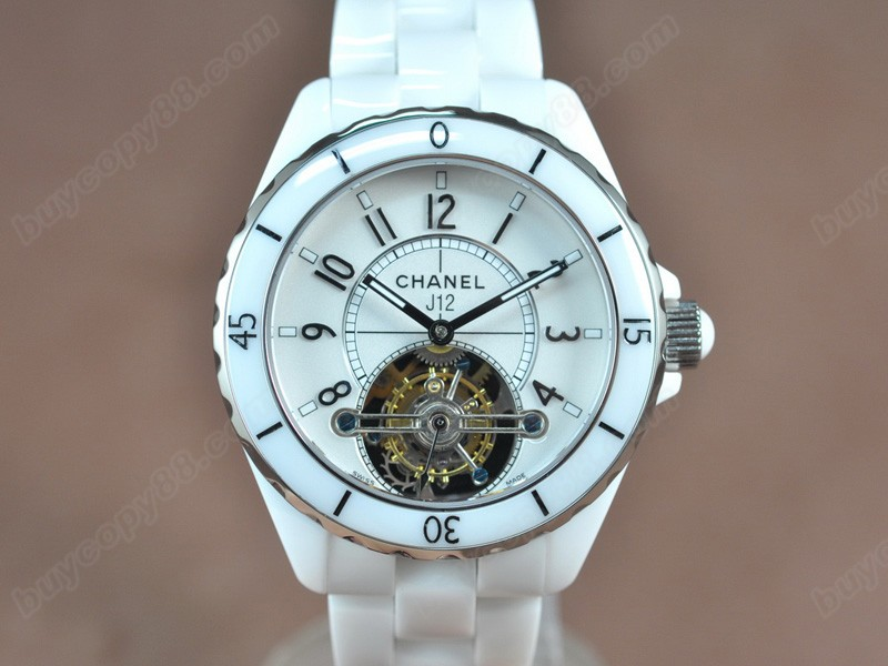 香奈兒Chanel J12 Tourbillon Full white ceramic White dial陀飛輪錶