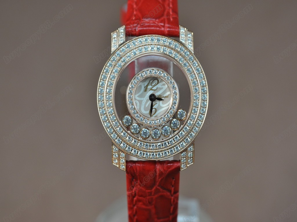 蕭邦錶【女性用】Happy Diamonds Ladies RG Case Swiss 石英機芯搭載