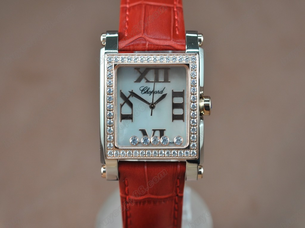 蕭邦錶【女性用】 Happy Diamonds Ladies TT Case White Dial Swiss 石英機芯搭載