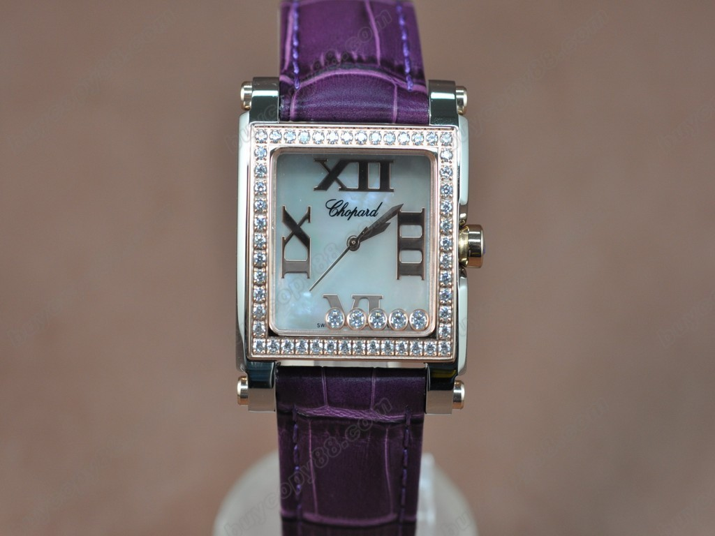 蕭邦錶【女性用】 Happy Diamonds Ladies RG Case White Dial Swiss 石英機芯搭載