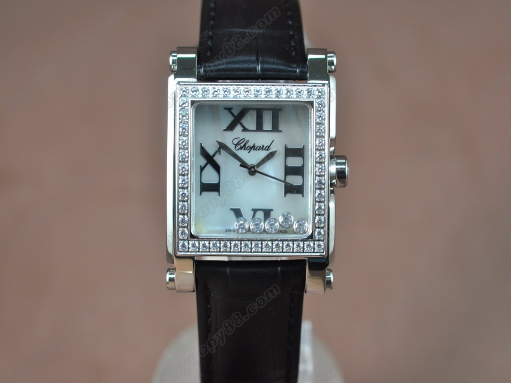 蕭邦錶【女性用】 Happy Diamonds Ladies SS Case White Dial Swiss石英機芯搭載