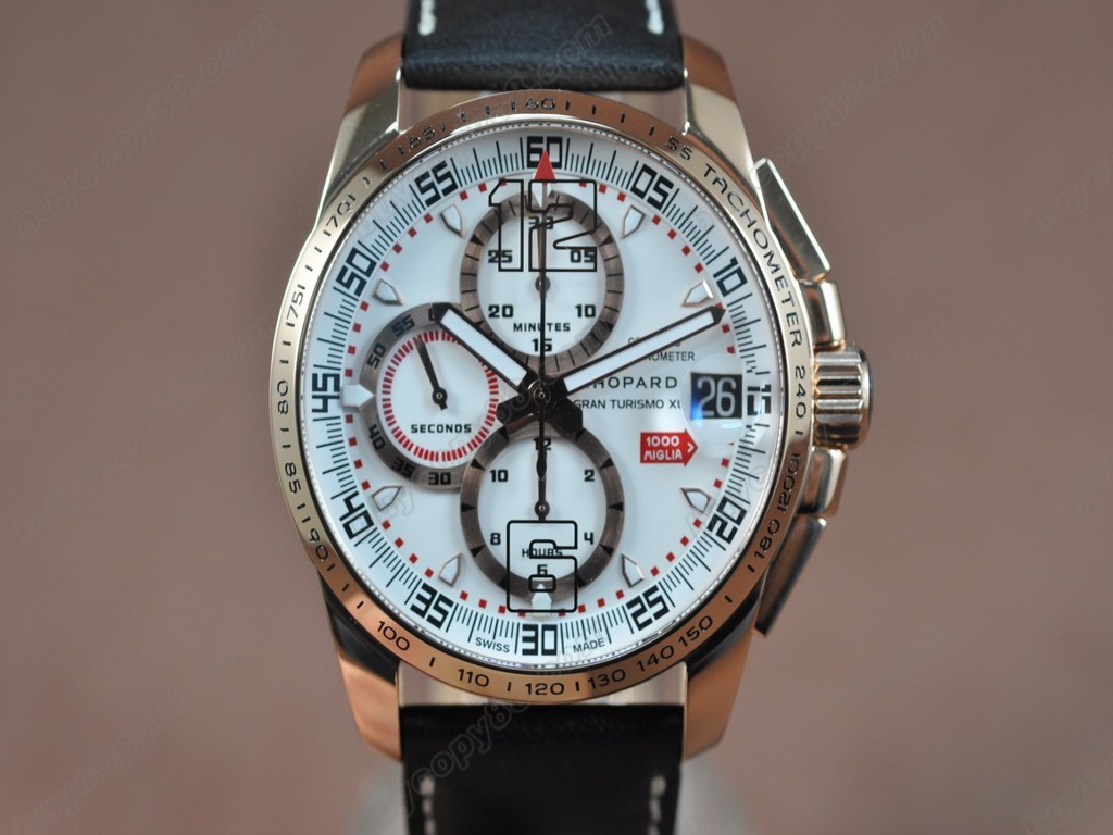 蕭邦錶【男性用】Mile Miglia GTXXL Chrono SS/LE/White Asian 7750 自動機芯搭載