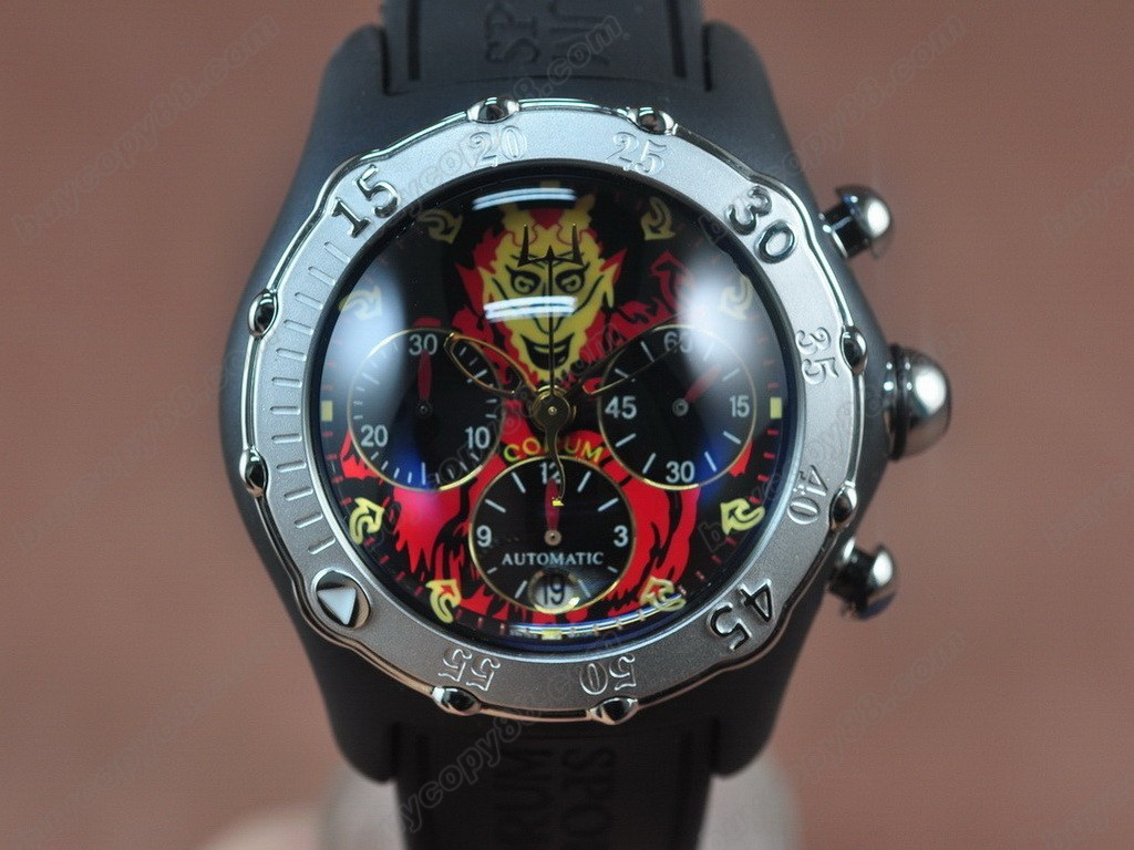 崑崙錶 【男性用】 Bubble Chrongraph Lucifer Limited Ed SS/RU Asia自動機芯搭載
