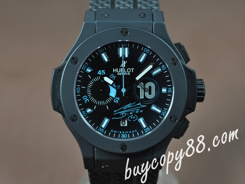 御博Hublot Big Bang 44mm Full Ceramic Black Dial A-7750自動機芯搭載