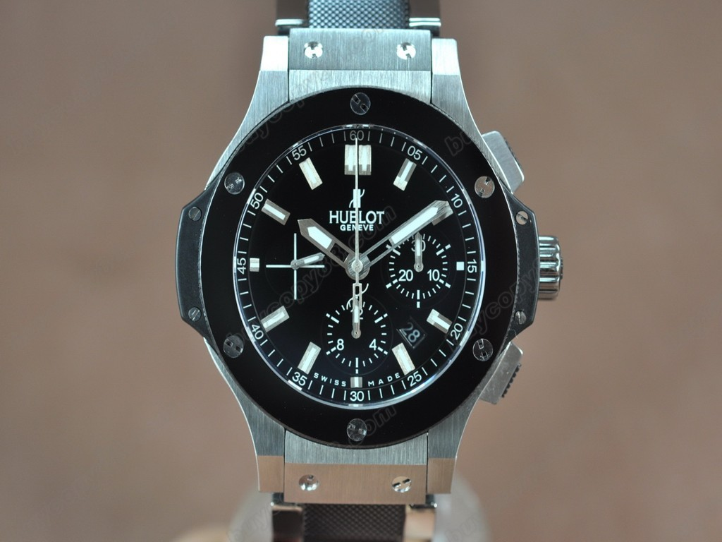 御博 【男性用】 Big Bang SS Ceramic Bez Black dial A-7750自動機芯搭載