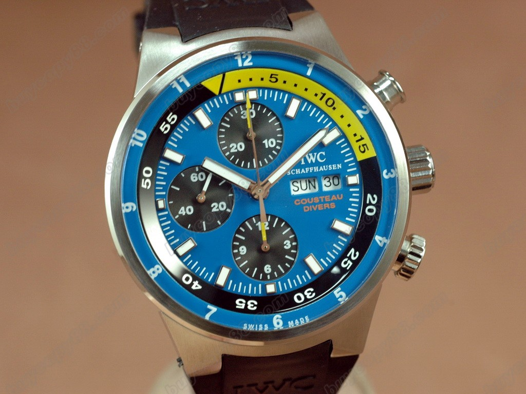 IWC【男性用】2008 Cousteau Divers Chrono SS Blue A-7750 自動機芯搭載