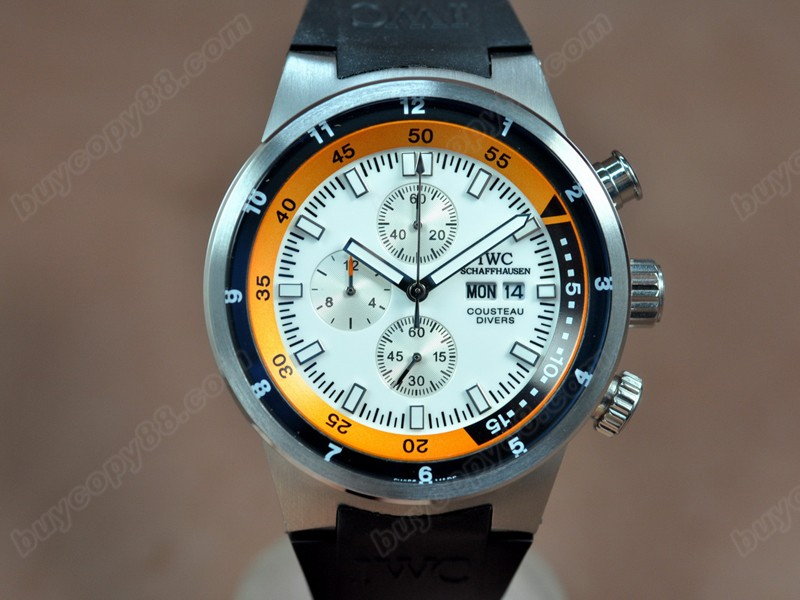 Iwc Cousteau Divers SS/RU White Dial Jap OS11石英錶