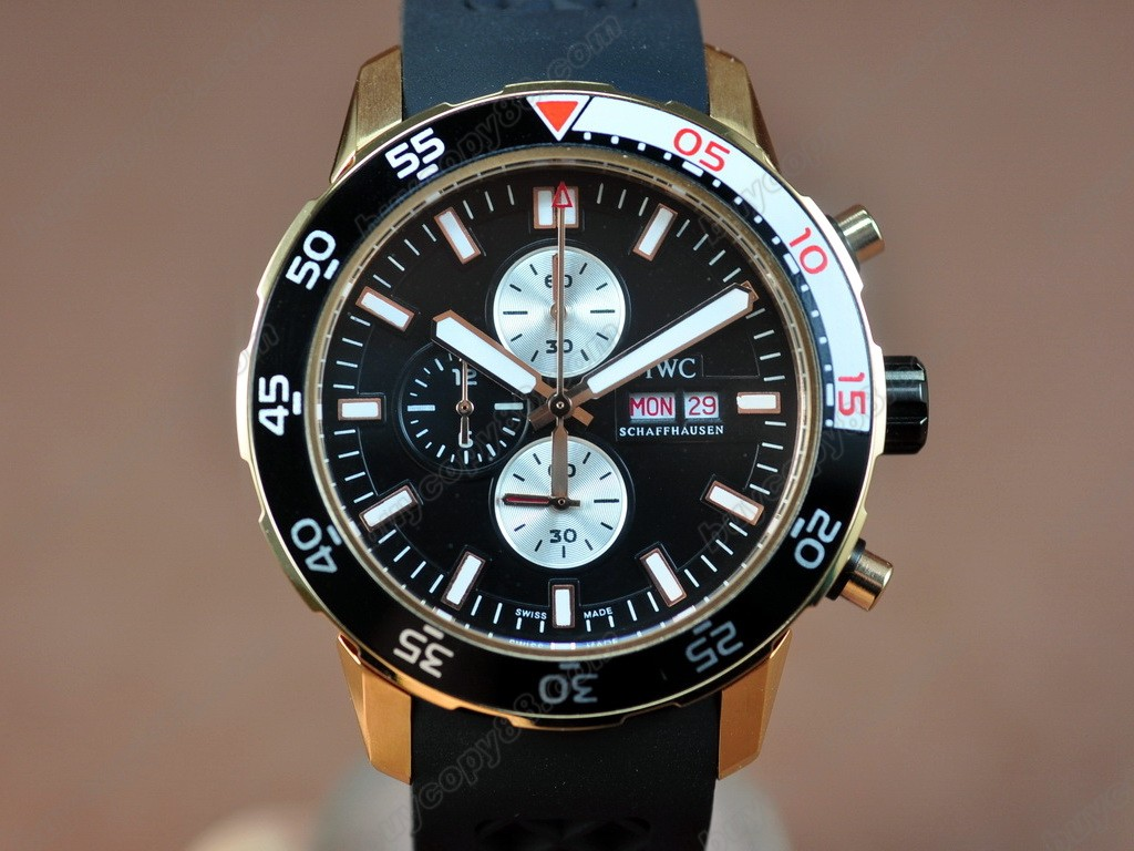 Iwc Watches Aquatimer RG/Black Japan OS 20石英機芯搭載