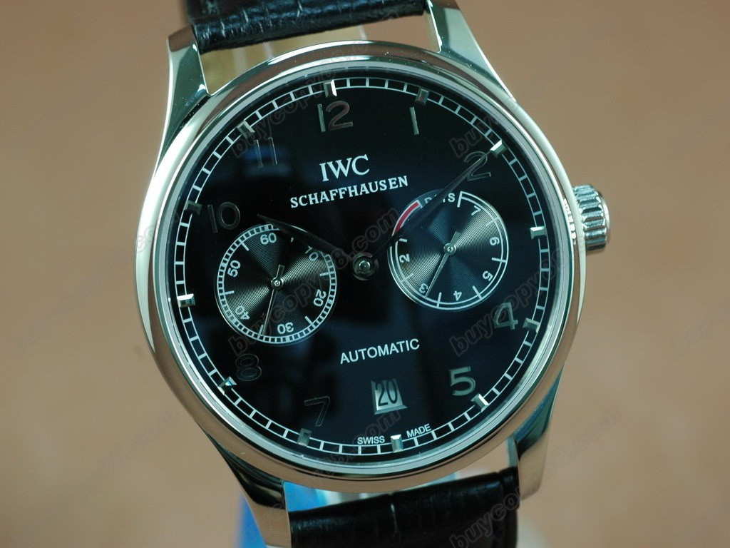 IWC Watches Portugese 7 Days SS/LE Grey Asia 21J 自動機芯搭載