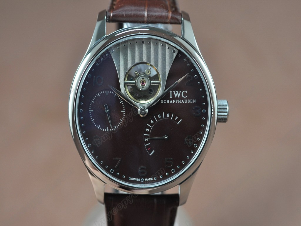 IWC【男性用】Portuguese Power Reserve SS/LE Brown Asian 自動機芯搭載