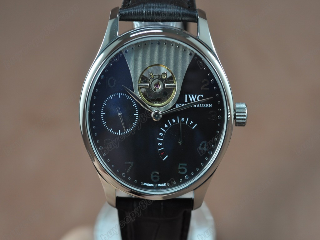IWC【男性用】Portuguese Power Reserve SS/LE Black Asian 自動機芯搭載