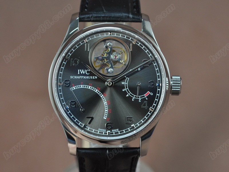 Iwc Portugese Mystere SS/LE Matel Grey dial Tourbillon Manual陀飛輪錶