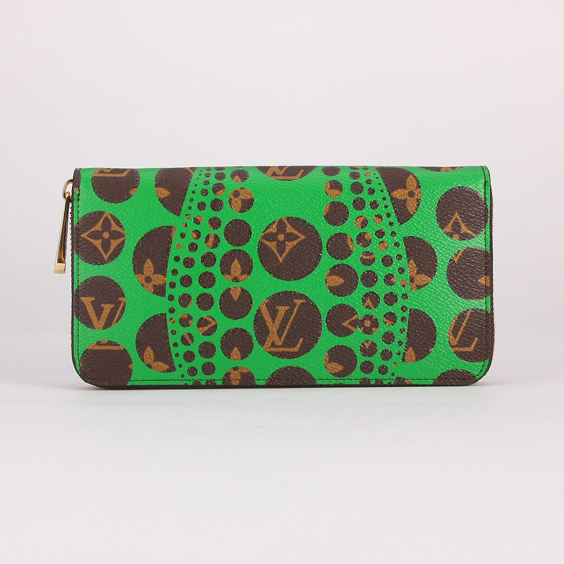 LV【M60448】草間彌生Monogram Pumpkin Dots拉鏈長夾