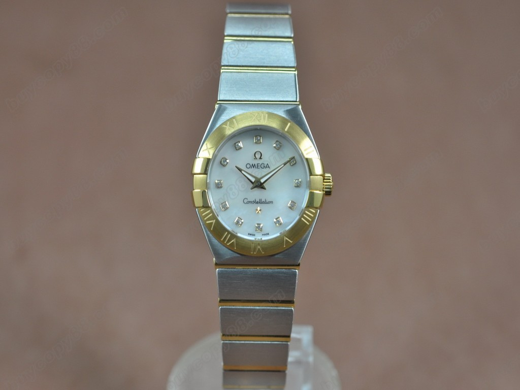 歐米茄 【女性用】 Constellation 28mm TT Pearl white dial Swiss ronda 石英機芯搭載