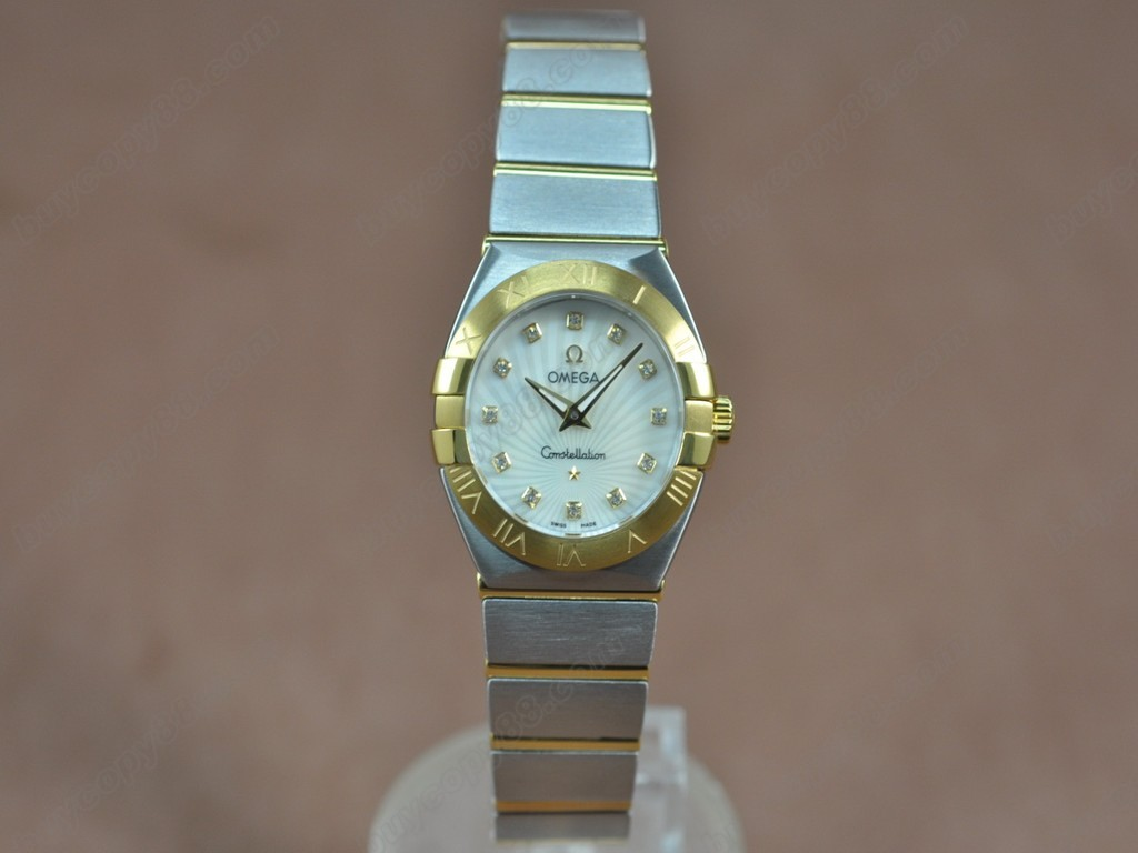 歐米茄 【女性用】Constellation 28mm TT Pearl white dial Swiss ronda 石英機芯搭載