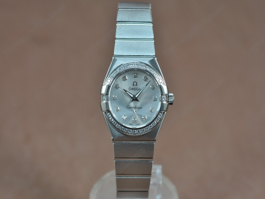 歐米茄 【女性用】 Constellation 28mm SS/Diam Silver dial Swiss ronda 石英機芯搭載