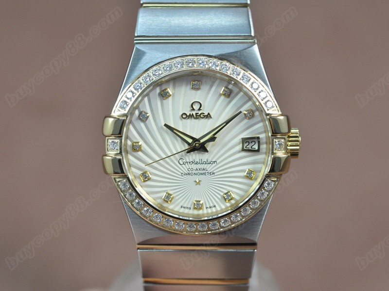 歐米茄Omega Constellation 36mm 18K Wrapped TT White Dial A-2824-2自動機芯搭載