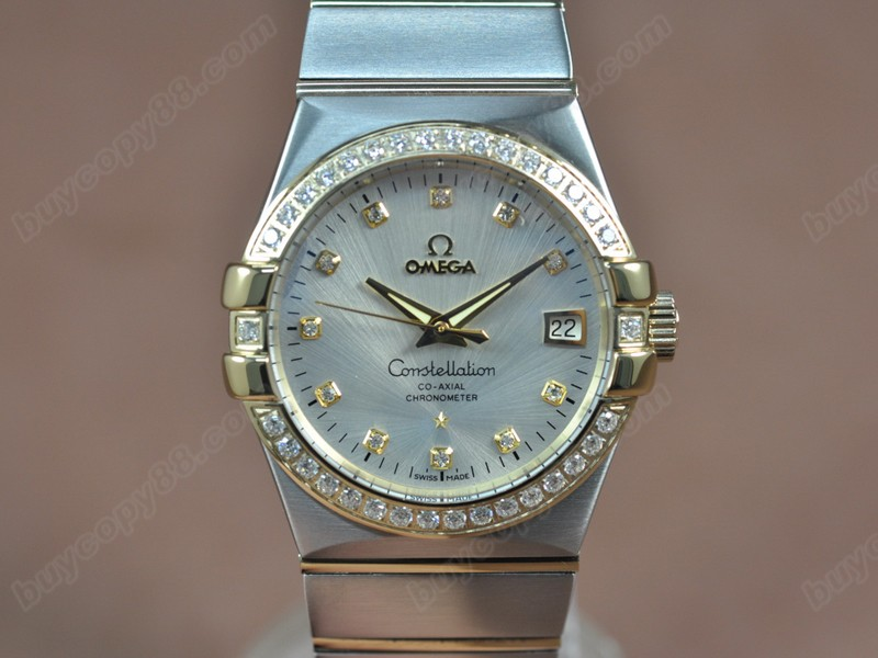 歐米茄Omega Constellation 36mm 18K Wrapped TT Silver Dial A-2824-2自動機芯搭載