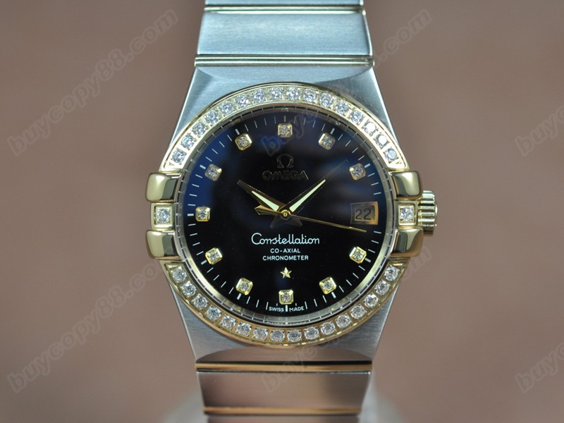 歐米茄Omega Constellation 36mm 18K Wrapped TT Black Dial A-2824-2自動機芯搭載