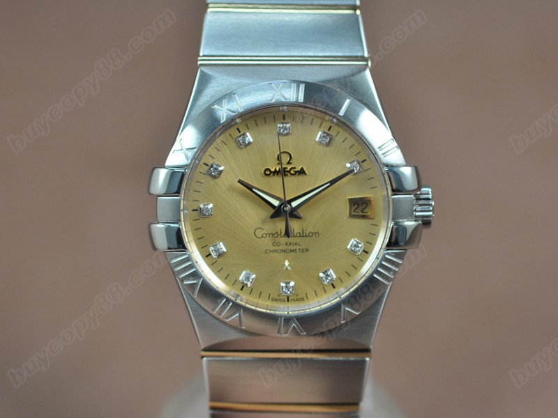 歐米茄Omega Constellation 36mm 18K Wrapped TT Gold Dial A-2824-2自動機芯搭載