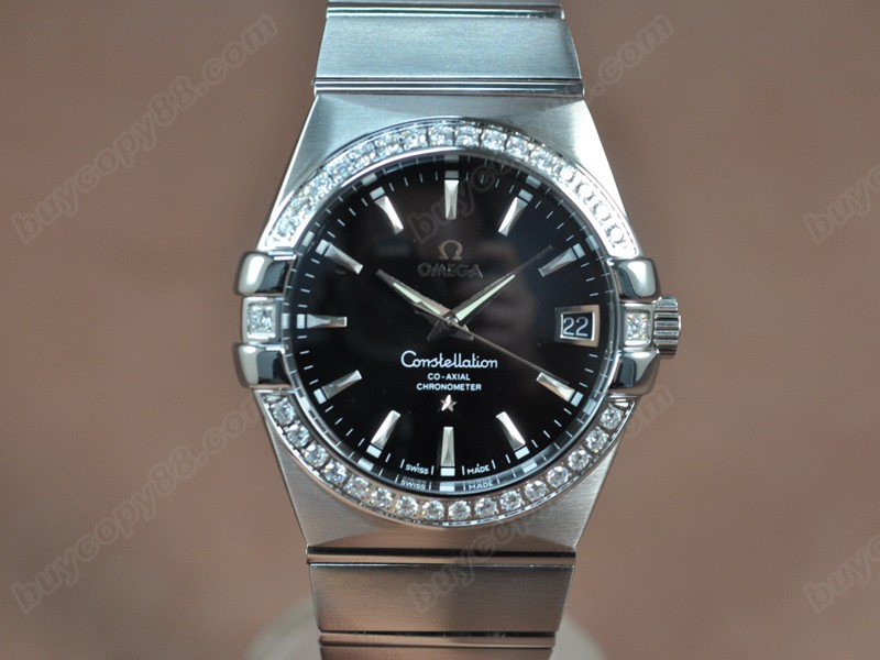 歐米茄Omega Constellation 39mm SS/SS/Diam Silver White Dial A-2824-2自動機芯搭載