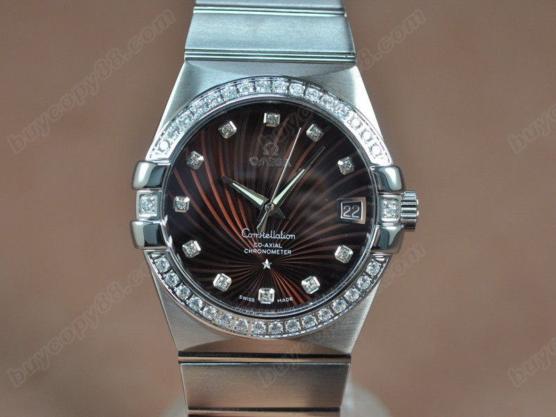 歐米茄Omega Constellation 39mm SS/SS/Diam Brown Dial A-2824-2自動機芯搭載
