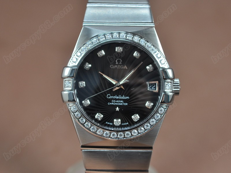 歐米茄Omega Constellation 39mm SS/SS/Diam Black Dial A-2824-2自動機芯搭載