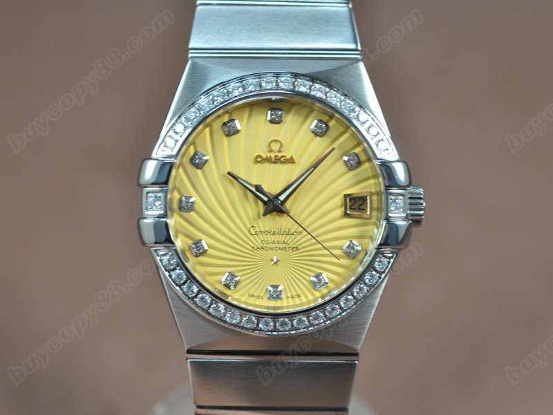 歐米茄Omega Constellation 39mm SS/SS/Diam Gold Dial A-2824-2自動機芯搭載