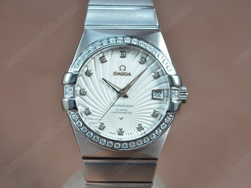 歐米茄Omega Constellation 39mm SS/SS/Diam White Dial A-2824-2自動機芯搭載