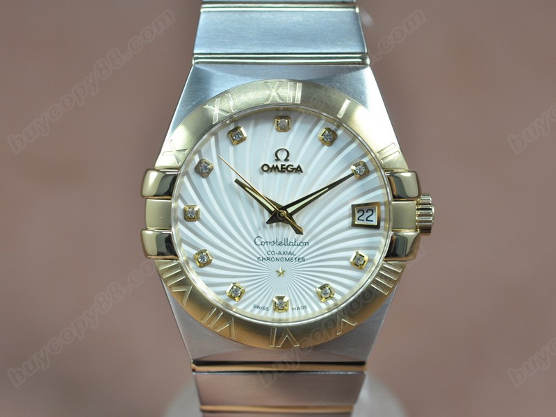 歐米茄Omega Constellation 39mm 18K Wrapped TT White Dial A-2824-2自動機芯搭載