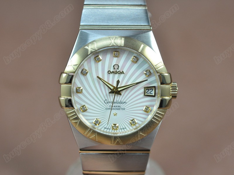 歐米茄Omega Constellation 39mm 18K Wrapped TT Pearl White Dial A-2824-2自動機芯搭載