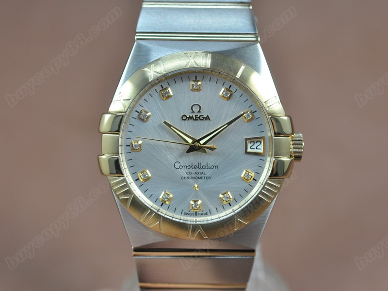 歐米茄Omega Constellation 39mm 18K Wrapped TT Silver White Dial A-2824-2自動機芯搭載