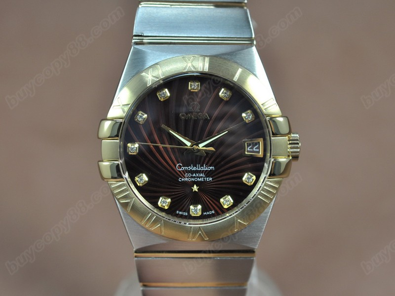 歐米茄Omega Constellation 39mm 18K Wrapped TT Brown Dial A-2824-2自動機芯搭載