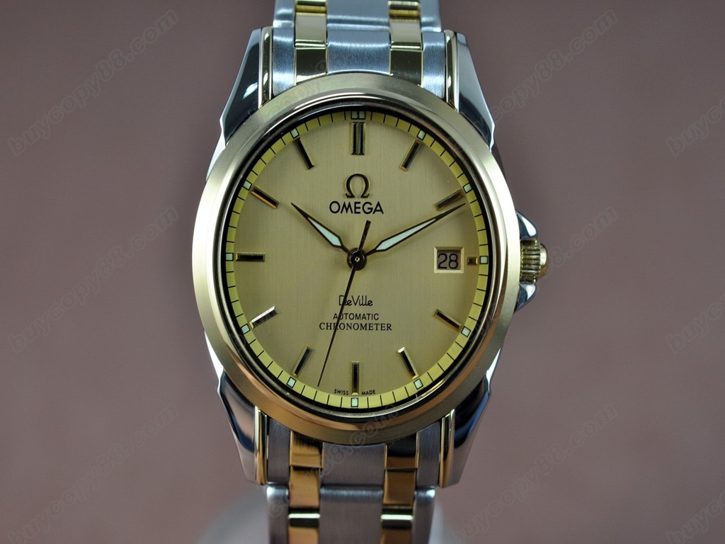歐米茄 【男性用】Deville TT Yellow gold Dial Swiss Eta 2824-2 自動機芯搭載