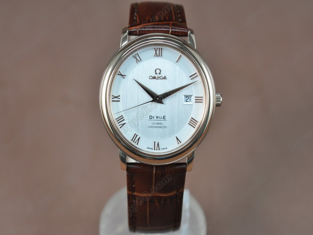 歐米茄 【男性用】 Deville RG White Dial Leather Strap Swiss Eta 2824-2 自動機芯搭載
