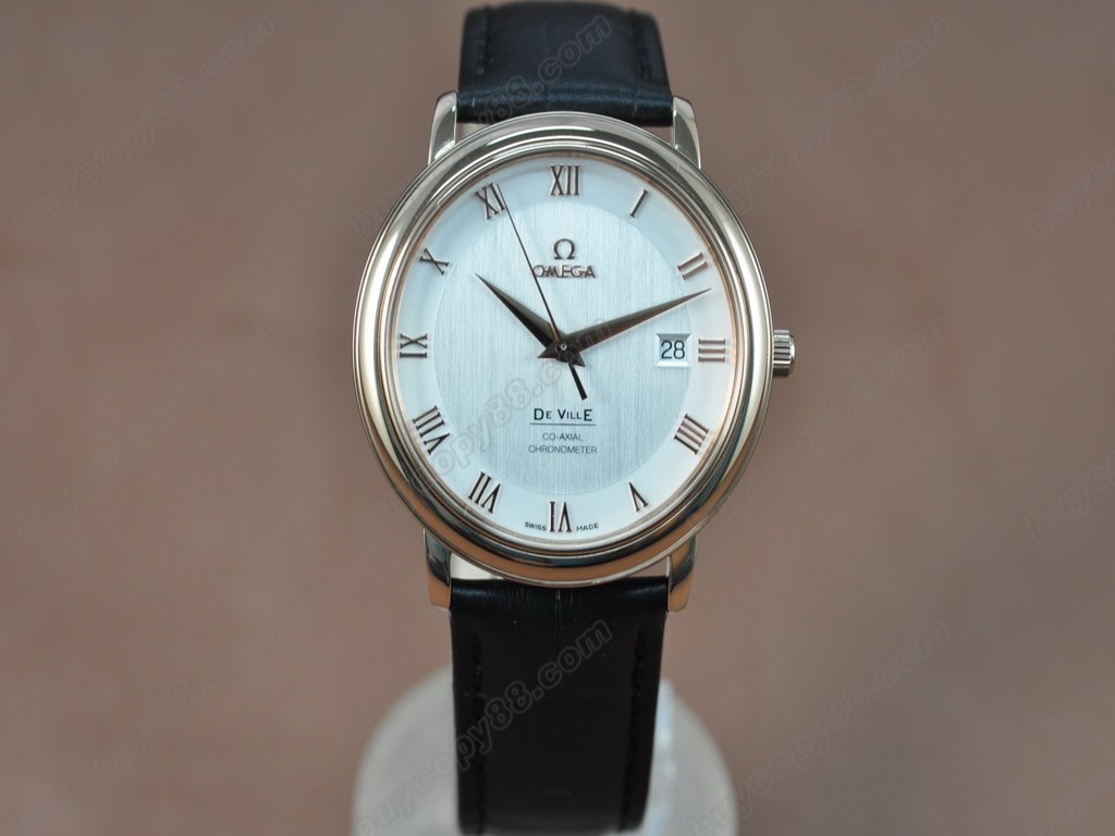 歐米茄 【男性用】Deville RG White Dial Leather Strap Swiss Eta 2824-2自動機芯搭載